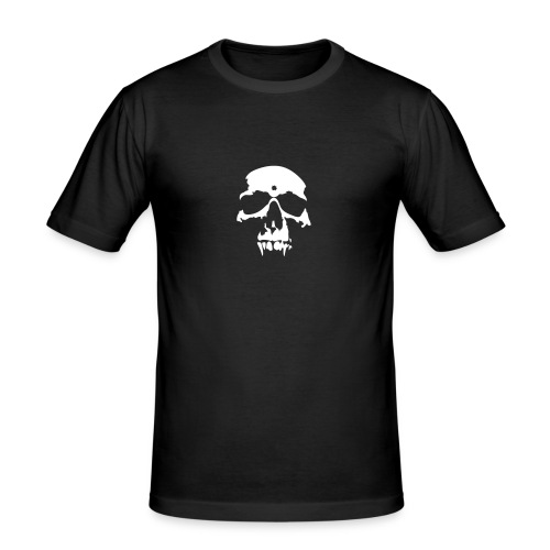Vampire Skull T-shirt White - Men's Slim Fit T-Shirt
