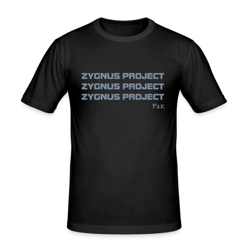 ZP Black 01 - Men's Slim Fit T-Shirt