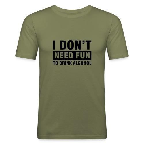 No Fun - Männer Slim Fit T-Shirt