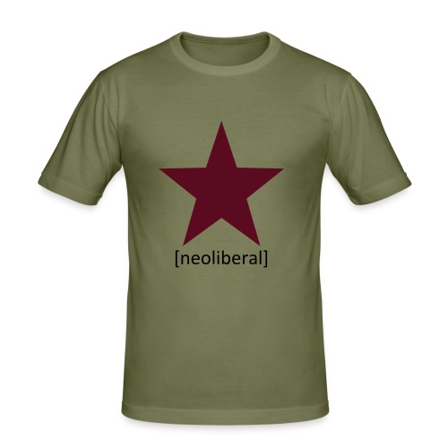 neoliberal - Männer Slim Fit T-Shirt