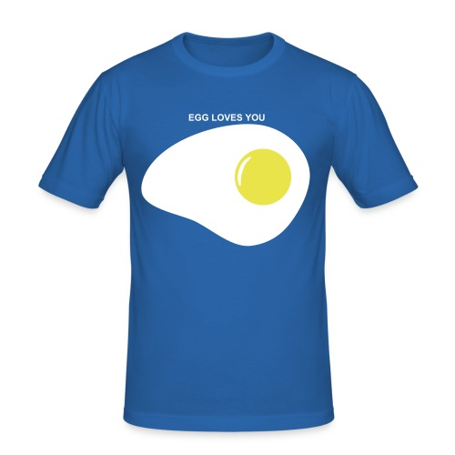 EGG LOVES YOU - Men's Slim Fit T-Shirt
