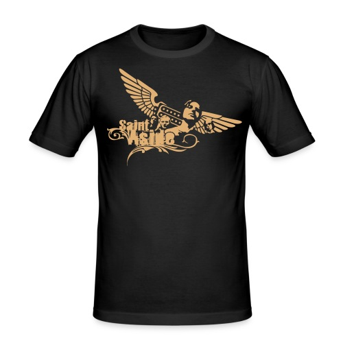 Basic Shirt (schwarz) - Men - Männer Slim Fit T-Shirt