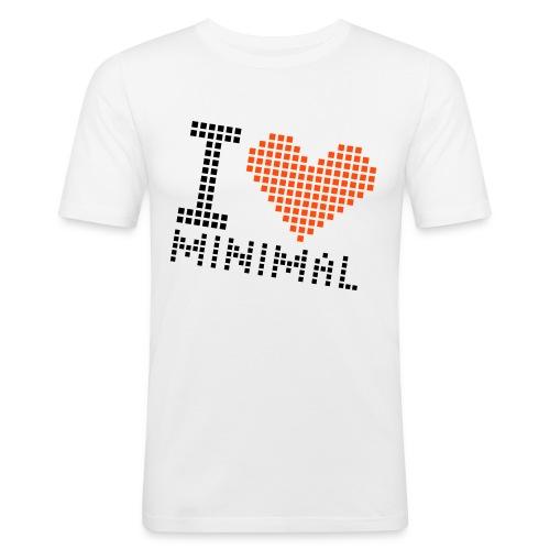 I Love Minimal - Männer Slim Fit T-Shirt