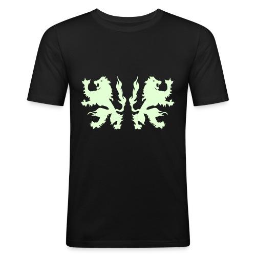 Double Lions - Glow in the dark - Men's Slim Fit T-Shirt