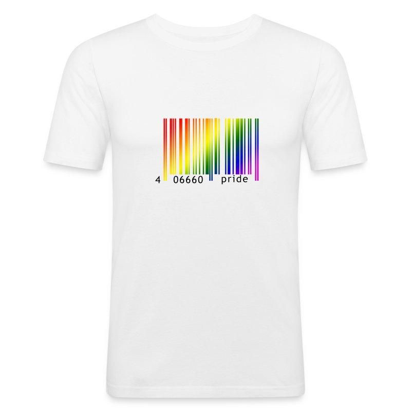shirt regenbogen strichcode t shirt boutique4men fan. Black Bedroom Furniture Sets. Home Design Ideas
