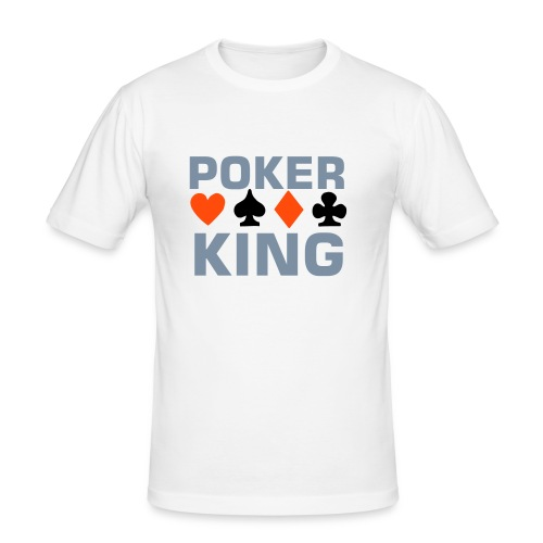Men Shirt - Poker King - Männer Slim Fit T-Shirt