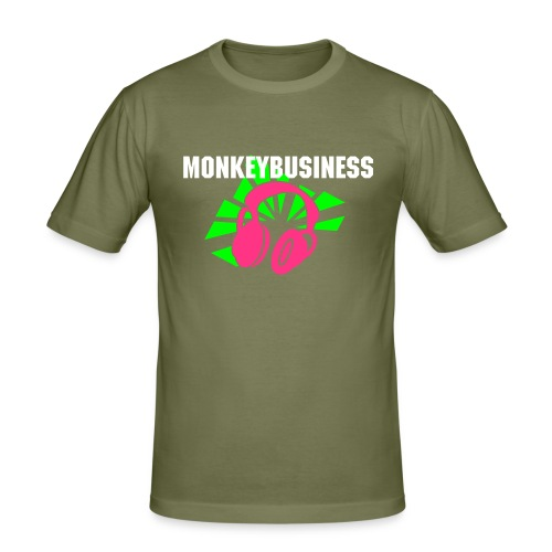 Monkey Punk Maniac Trooper - Männer Slim Fit T-Shirt