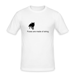 Foxes are made of string - Men's Slim Fit T-Shirt