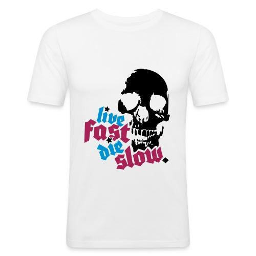 Live Fast Die Slow - Men's Slim Fit T-Shirt