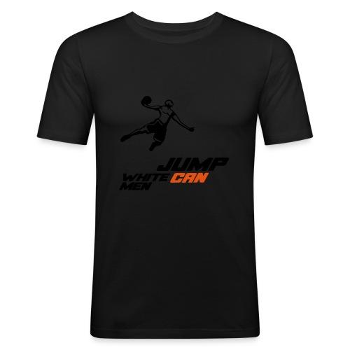 Basketball white men can jump - Slim Fit T-skjorte for menn