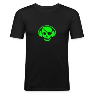 DJ Ulfen - Pirate / txt på rygg - Slim Fit T-skjorte for menn