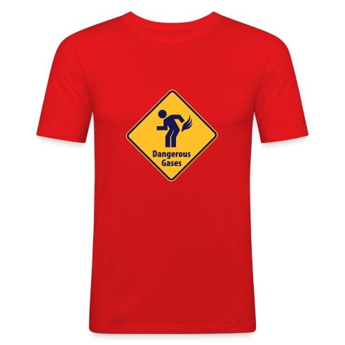 T-shirt slim fit ATTENZIONE GAS PERICOLOSI - Maglietta aderente da uomo