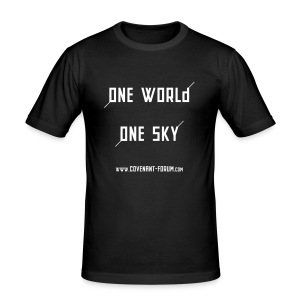 One World (Front) - Männer Slim Fit T-Shirt