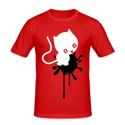 Cat in crap tee - Men's Slim Fit T-Shirt