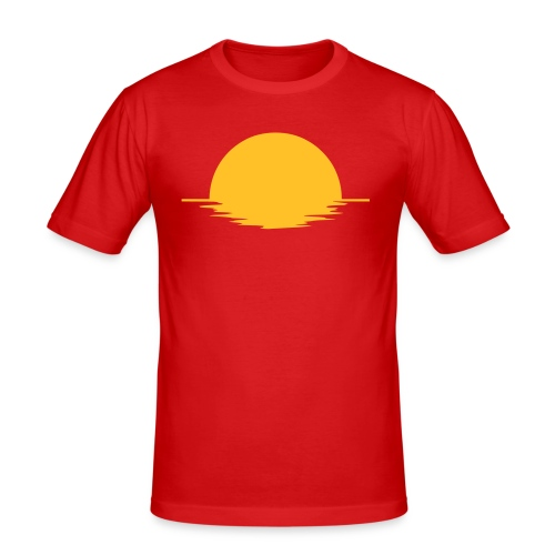 Sunset - Slim Fit T-shirt herr