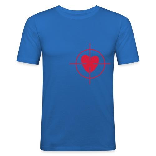 Coeur ciblé - T-shirt près du corps Homme