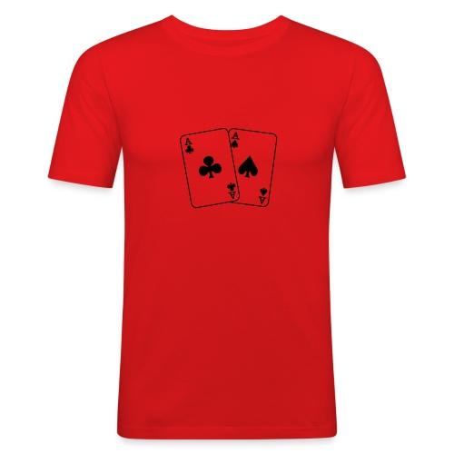 Double aces t-shirt - Slim Fit T-skjorte for menn
