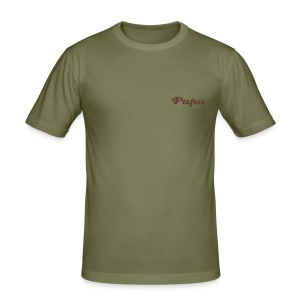 Papa-Shirt - Männer Slim Fit T-Shirt