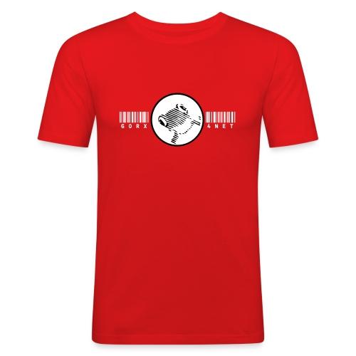barcode frog slim fit - Männer Slim Fit T-Shirt