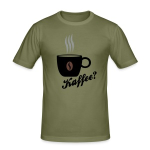 Men Shirt - Kaffee? - Männer Slim Fit T-Shirt