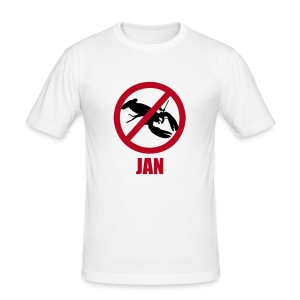 Jan - herre - slim - svart - Slim Fit T-skjorte for menn