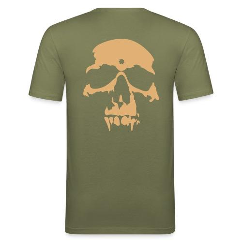 une jolie tete de mort - T-shirt près du corps Homme