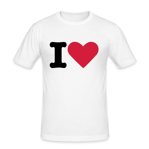 I Love football - Men's Slim Fit T-Shirt