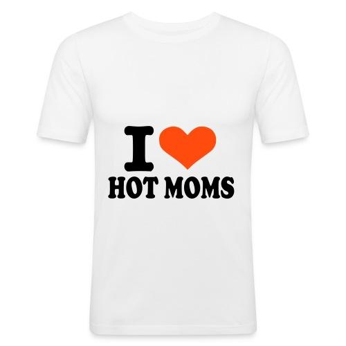 I love hot Moms - Men's Slim Fit T-Shirt