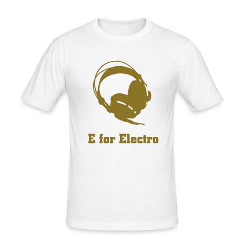 E for Electro Tee (Gold) - Men's Slim Fit T-Shirt