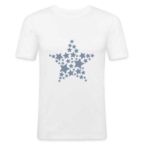 mannen shirt met sterren - slim fit T-shirt