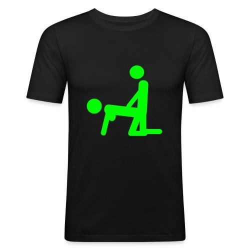 Sort herre t-shirt med morsomt sex tema - Slim Fit T-skjorte for menn