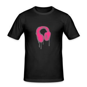 headphone tee - Men's Slim Fit T-Shirt