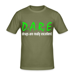 D.A.R.E. (Glow in the dark) - Men's Slim Fit T-Shirt
