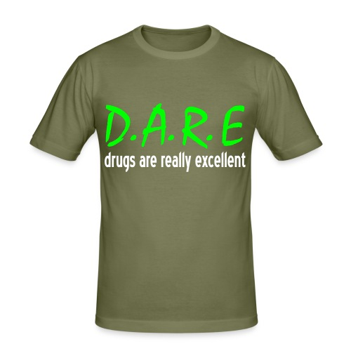 D.A.R.E. (Glow in the dark) - Men's Slim Fit T-Shirt