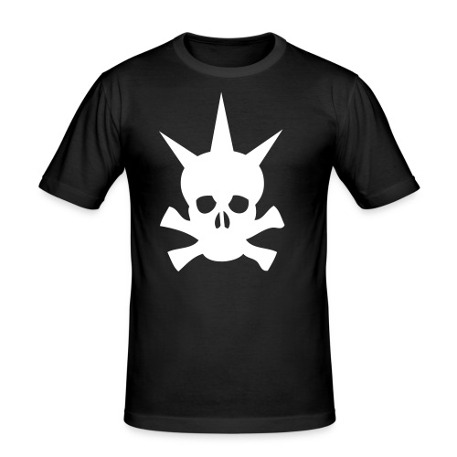 Punkskull t-shirt. - Herre Slim Fit T-Shirt