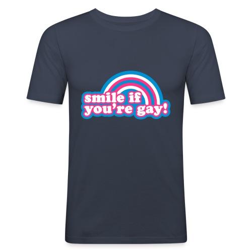 Smile if you´re gay - Miesten tyköistuva t-paita