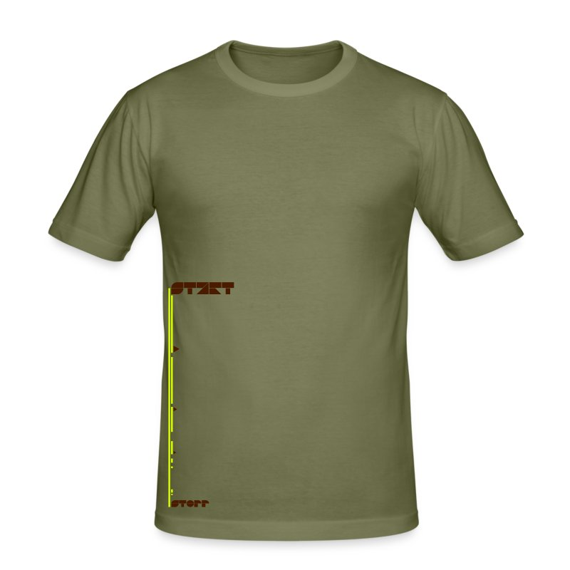 start_stop (m) - Männer Slim Fit T-Shirt