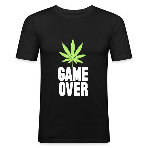 GAME OVER designed by Cyel - Maglietta aderente da uomo