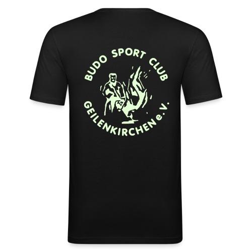HerrenShirt schwarz - Männer Slim Fit T-Shirt