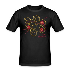 CM-1 Logo men's slim fit black/red - Men's Slim Fit T-Shirt