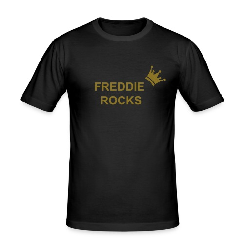 simple. Freddie Rocks tee.  - Men's Slim Fit T-Shirt