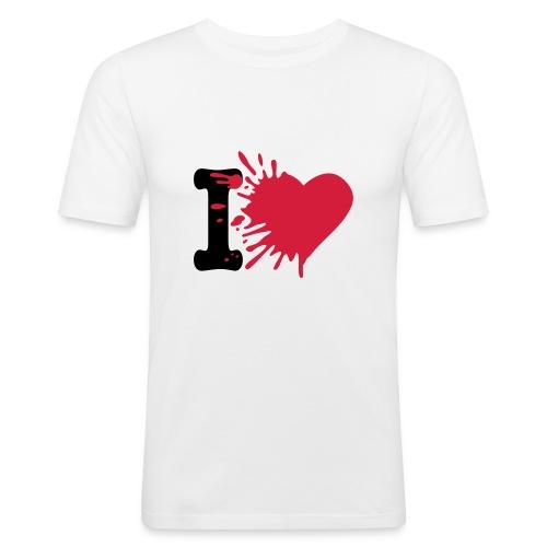 i love - Men's Slim Fit T-Shirt