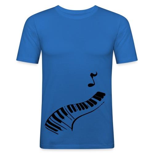 Blue pjanno ! - T-shirt près du corps Homme