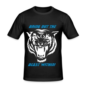 Bring outthe beast within - Men's Slim Fit T-Shirt