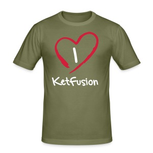 I Love Ketfusion - Olive - Men's Slim Fit T-Shirt