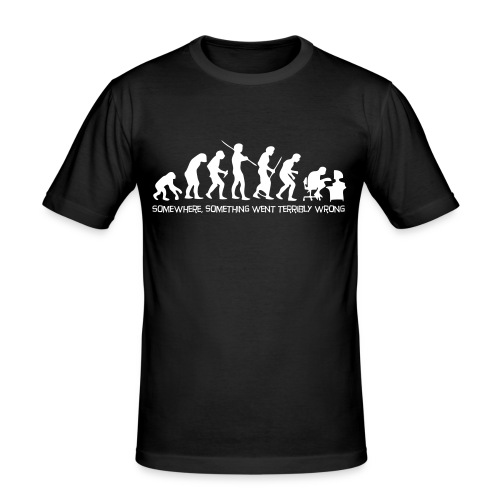 Evolution of Man - Männer Slim Fit T-Shirt
