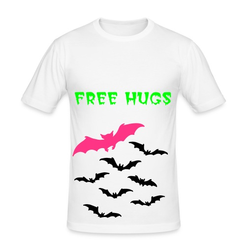 free hugs bat t-shirt - Men's Slim Fit T-Shirt