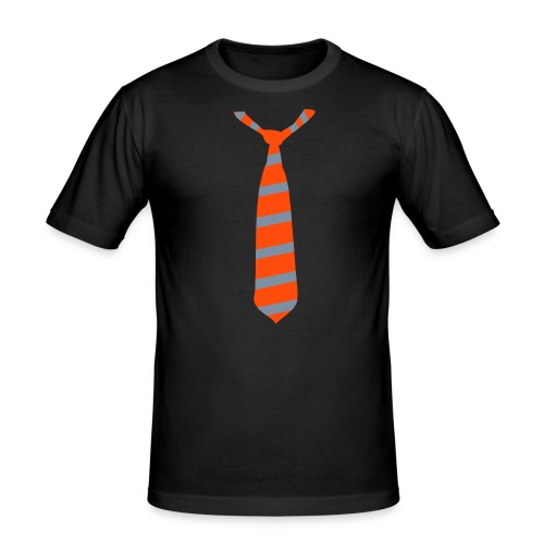 Krawatten-Shirt - Männer Slim Fit T-Shirt