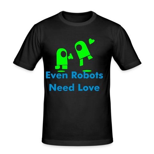 Robot Love - Men's Slim Fit T-Shirt