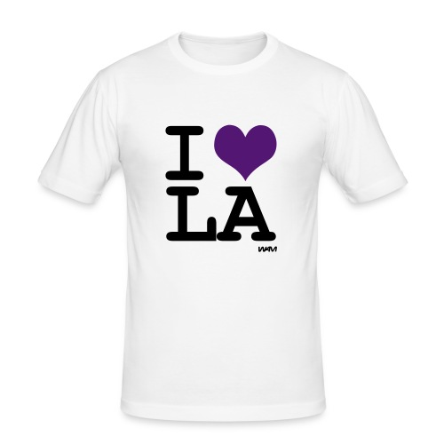 I LOVE LA - Men's Slim Fit T-Shirt